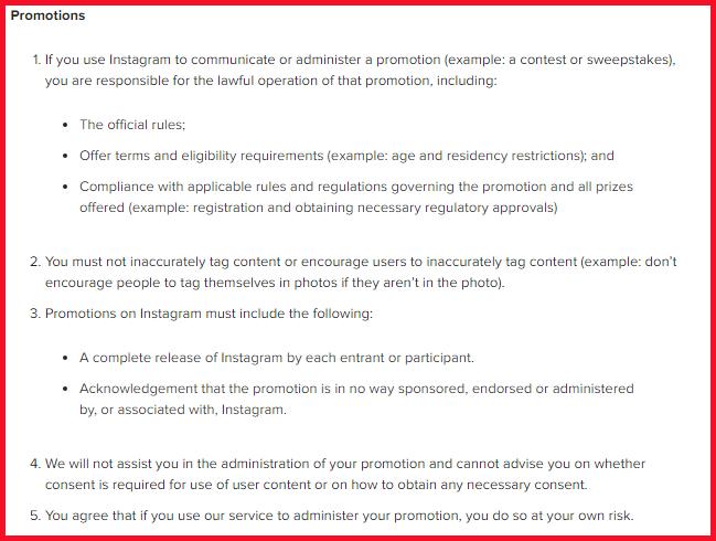 pravidla sutazí na instagrame